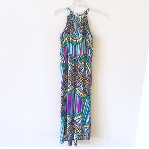 Collective Concept Multicolored Maxi-Dress